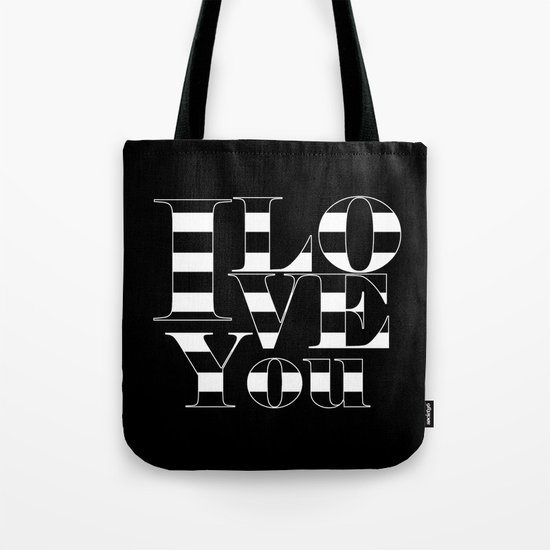 I love you - black Tote Bag