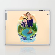 Couple custom illustration for I&S Laptop & iPad Skin