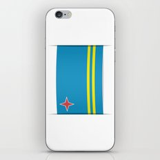 Flag of Aruba.  The slit in the paper with shadows.  iPhone & iPod Skin