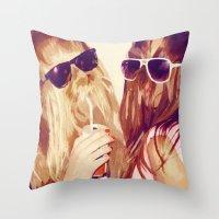 It Girls Throw Pillow