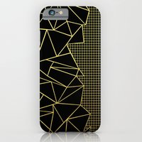 Ab Outline Grid Black and Gold iPhone 6 Slim Case