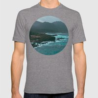 Big Sur Rocky Shore Mens Fitted Tee Tri-Grey SMALL