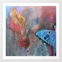 beet and butterfly Art Print