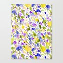Wild Nature (Yellow and Blue) Canvas Print