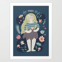Mother's Day Lady In Nat… Art Print