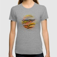 Watercolor abstract landscape 26 Womens Fitted Tee Tri-Grey SMALL