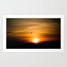 Sunset Silhuettes Art Print