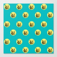 PURRFECT POLKA DOTS Canvas Print