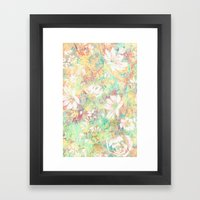 Vintage Flowers XXXIX - for iphone Framed Art Print