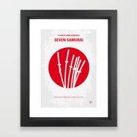 No200 My The Seven Samurai minimal movie poster Framed Art Print