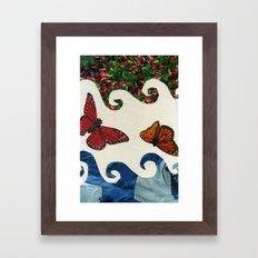 flying in circles Framed Art Print
