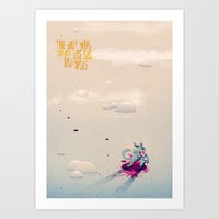 The Boy Who Carried the Big Bad Wolf Poster Art Print