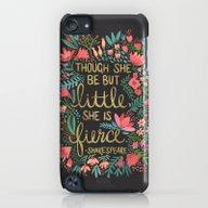 Little & Fierce On Charc… iPod touch Slim Case