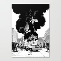 Lady of Flame Canvas Print
