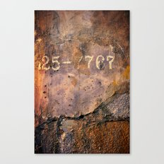 Cement Numbers Canvas Print