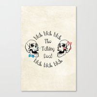 The Funny Talking Dead Skull Picture Canvas Print