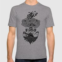 Hypnoisland Mens Fitted Tee Athletic Grey SMALL