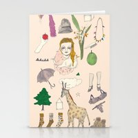 paper doll Stationery Cards
