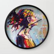 Lena- Beautiful Woman Wall Clock