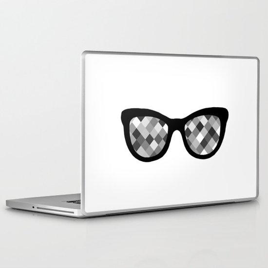 Diamond Eyes Black and White Laptop & iPad Skin