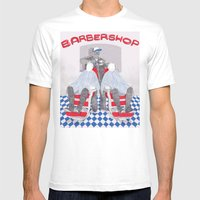 Barbershop Mens Fitted Tee White SMALL