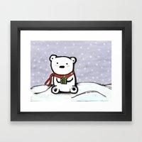 Winter Bear Framed Art Print