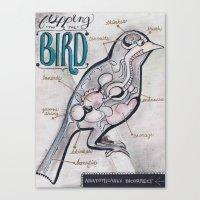Anatomical Bird Canvas Print