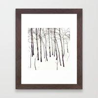 Walk In The White Lightn… Framed Art Print