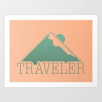 Art Print featuring Traveler  by Wolves In Space