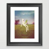 F A T H E R & S O N Framed Art Print