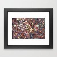 Ludus In Fabula Framed Art Print