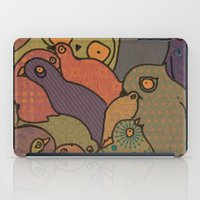 A bunch of birds in blue mosaic  iPad Case