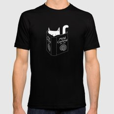 Mind Control 4 Cats SMALL Mens Fitted Tee Black