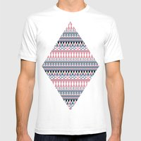 Tribal Triangle #2# Mens Fitted Tee White SMALL