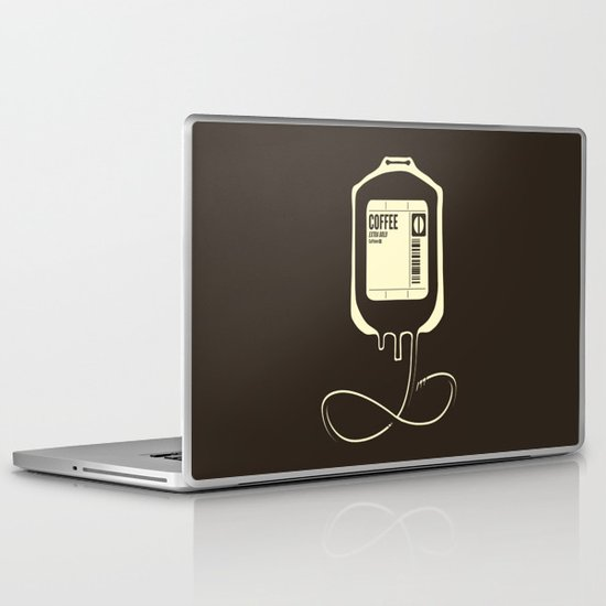 Coffee Transfusion Laptop & iPad Skin