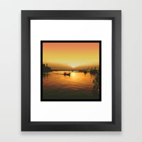 Sunset Haven Framed Art Print