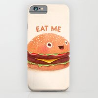 iPhone Cases featuring Burger by Lime