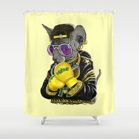 Boxing Cat 3 Shower Curtain