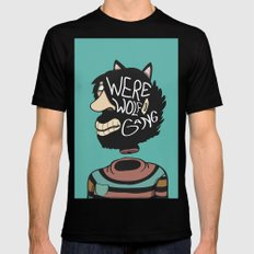 We're a Wolf Gang Mens Fitted Tee SMALL Black