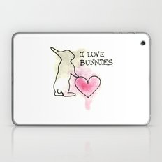 I LOVE BUNNIES Laptop & iPad Skin