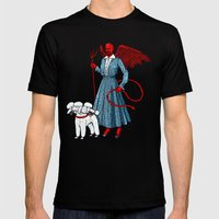 Devil With A Blue Dress On Mens Fitted Tee Black SMALL
