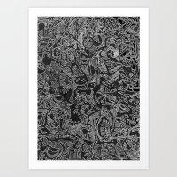 White/Black #3 Art Print