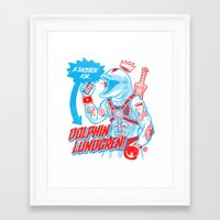 A Juicebox For Dolphin L… Framed Art Print