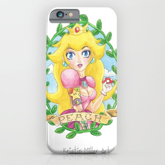 Tattooed Peach iPhone & iPod Case