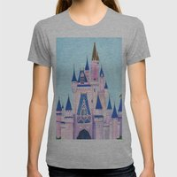 Cinderella's Castle Womens Fitted Tee Athletic Grey SMALL