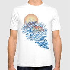 The Lost Adventures of Captain Nemo SMALL Mens Fitted Tee White