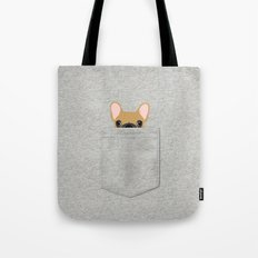 Pocket French Bulldog - Fawn Tote Bag