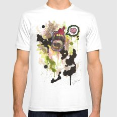 Zombie Mens Fitted Tee SMALL White