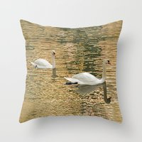 SWANLIGHT Throw Pillow