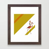 Baby you can ride my flamingo Framed Art Print